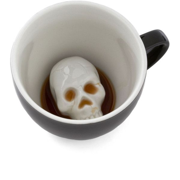 Will's Presentation Skulls Mug ($18) found on Polyvore