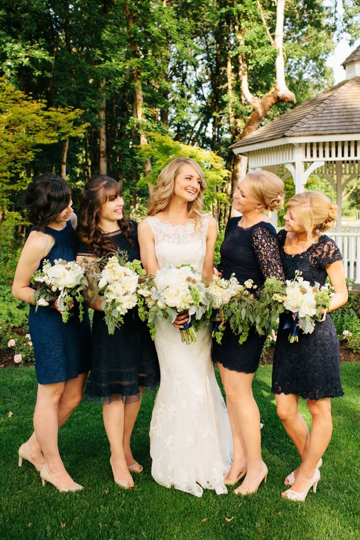 Best 25 mismatched navy bridesmaids ideas on pinterest navy a classic navy and gold washington wedding ombrellifo Image collections