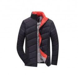 Módní podzimní zimní stylová pánská bunda černá + POŠTOVNÉ ZDARMAPošta Zdarma