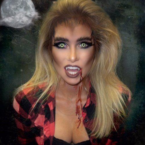 werewolf inspired halloween makeup - IG: @beauty.x.jenna #halloween #halloweenmakeup #werewolf #werewolfmakeup #makeup #specialeffectmakeup