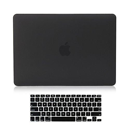 """Versality Perfect Fit Hard Case Cover for MacBook Air 13.3"""" (Model: A1369 / A1466) and Matching Keyboard Cover in Black Matte"""