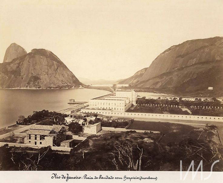Georges Leuzinger - 1867 - Praia da Saudade, Hospício D.Pedro II e Escola Militar na Praia Vermelha