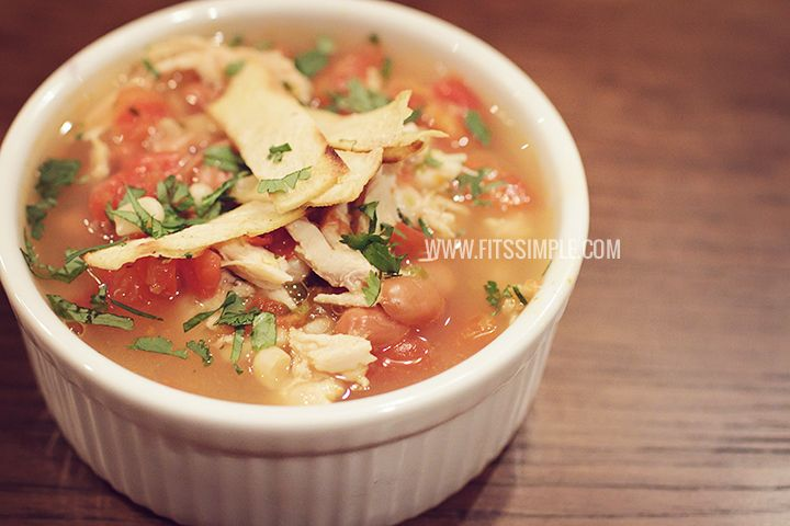Clean Chicken Tortilla Soup - 21 Day Fix Approved! Absolutely DELICIOUS!