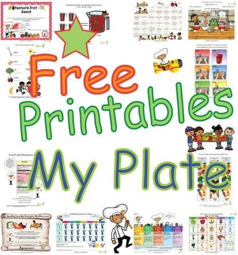 Introduce the new My Plate to children with our new learning sheets, coloring pages, worksheets and activity sheets.  We created new My Plate tips for kids that promote the My Plate healthy messages.  Chef Solus teaches children about the new Choose MyPlate with our fun and always very cute kid-friendly printables.  http://www.nourishinteractive.com/nutrition-education-printables/category/13-myplate-eating-healthy-food-kids-nutrition-printables