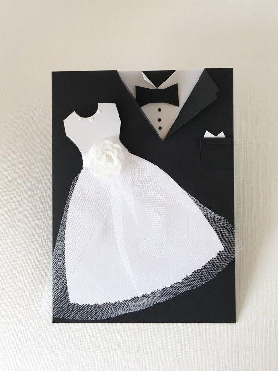 Carte Mr et Mme mariée et carte de félicitations marié