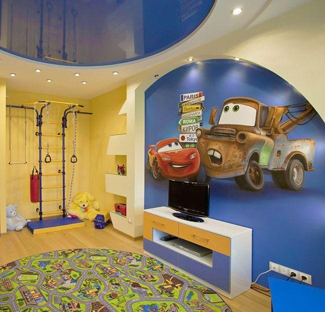 Натяжные потолки в детской комнате: виды, материалы, дизайн