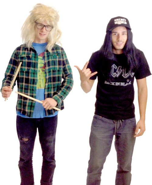 Whether you wanna dress up as Wayne Campbell or Garth from Wayne's World for Halloween this year, this Wayne's World Garth and Wayne Costume Set will put you on the right track. Featuring key pieces to any Wayne's World DIY costume, this officially-licensed Wayne's World Halloween costume set will make you the hit of your next family and friends holiday party or office Halloween meeting. With this costume set, you're closer to completing your DIY Garth costume and your DIY Wayne Cambell…