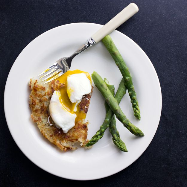 rosti potatoes with poached egg and asparagus (even better if you grow ...