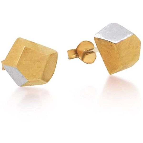 Maya Magal London - IO Gold Studs ($82) ❤ liked on Polyvore featuring jewelry, earrings, 18 karat gold jewelry, 18k earrings, studded jewelry, 18 karat gold stud earrings and 18 karat gold earrings