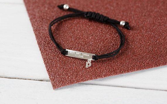 Design your own run bracelet triathlon gift by LilyMoJewellery