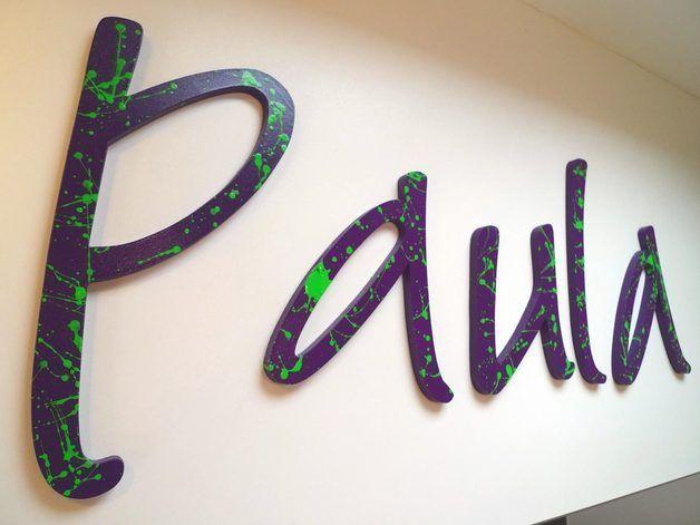 paul(a) ★ NAME des MONATS ★ AKTION von PAULSBECK Buchstaben, Dekoration & Geschenke auf DaWanda.com