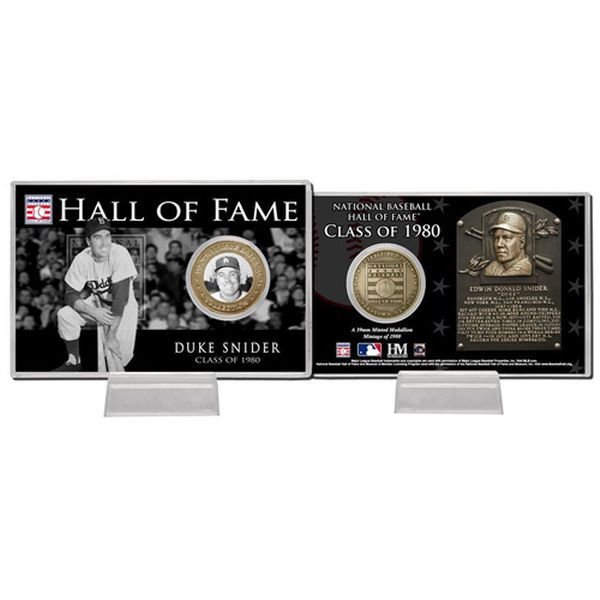 Duke Snider Los Angeles Dodgers Highland Mint 1980 Hall of Fame Bronze Coin Card - $19.99