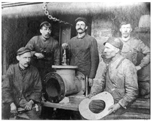 How would you #CaptionThis picture? It was taken sometime in the 1900's and shows employees in the Bond Lake Power Station #RichmondHill