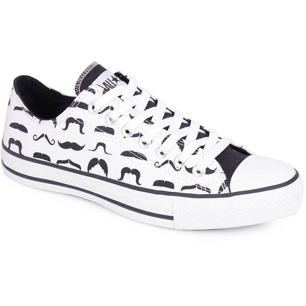 Tenis Casual Unissex Converse All Star As Print Mustaches Ox Ct3547... found on Polyvore