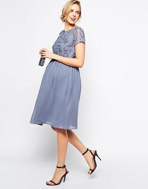 Image 4 of ASOS Maternity Exclusive Embellished Midi Dress