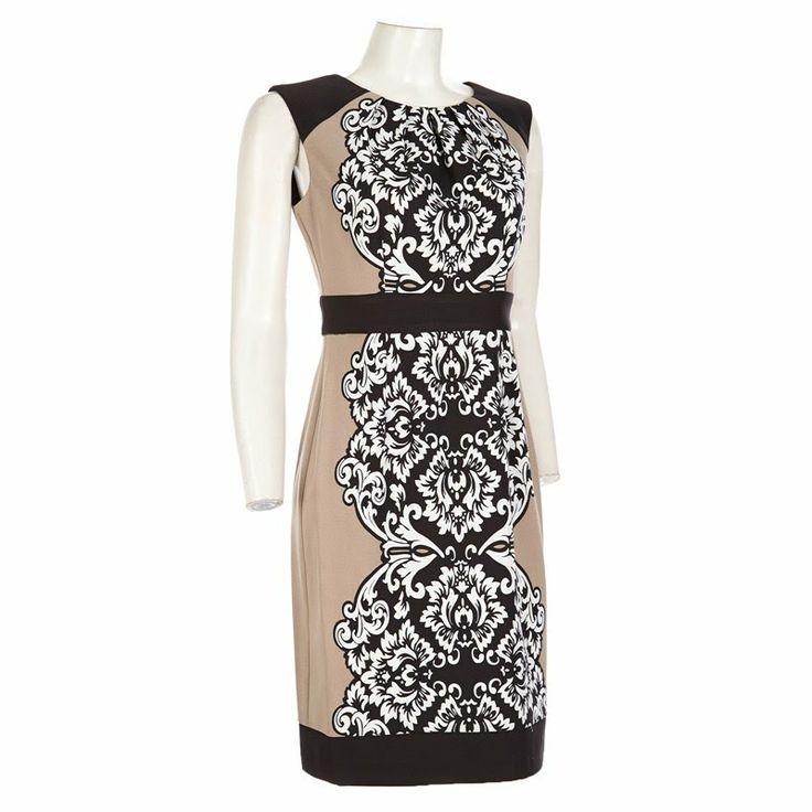 Cute Scroll Print Sheath Dress Casual Dresses Women Burlington Coat Factory