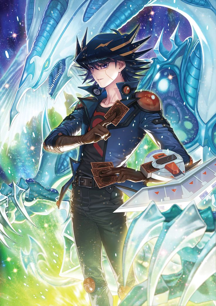 Yusei fudo with stardust dragon i love the series and the - Yugioh art wallpaper ...