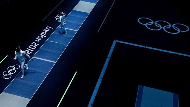 Olympics 2012 (Fencing) - Yujie Sun CHN vs Rossella Fiamingo ITA