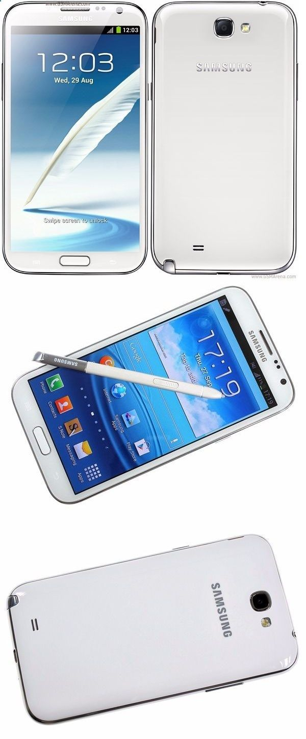 Unlocked Smartphones - cell phones: New Samsung Galaxy Note 2 Gt-N7100 - 16Gb - Marble White (Unlocked) Smartphone -> BUY IT NOW ONLY: $169.9 on eBay!