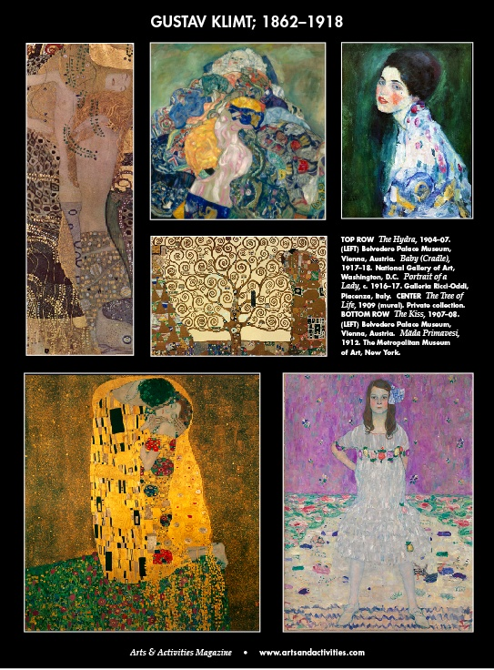 Happy 150th birthday to artist Gustav Klimt, born July 14, 1862. The Austrian symbolist painter was one of the most prominent members of the Vienna Secession movement.