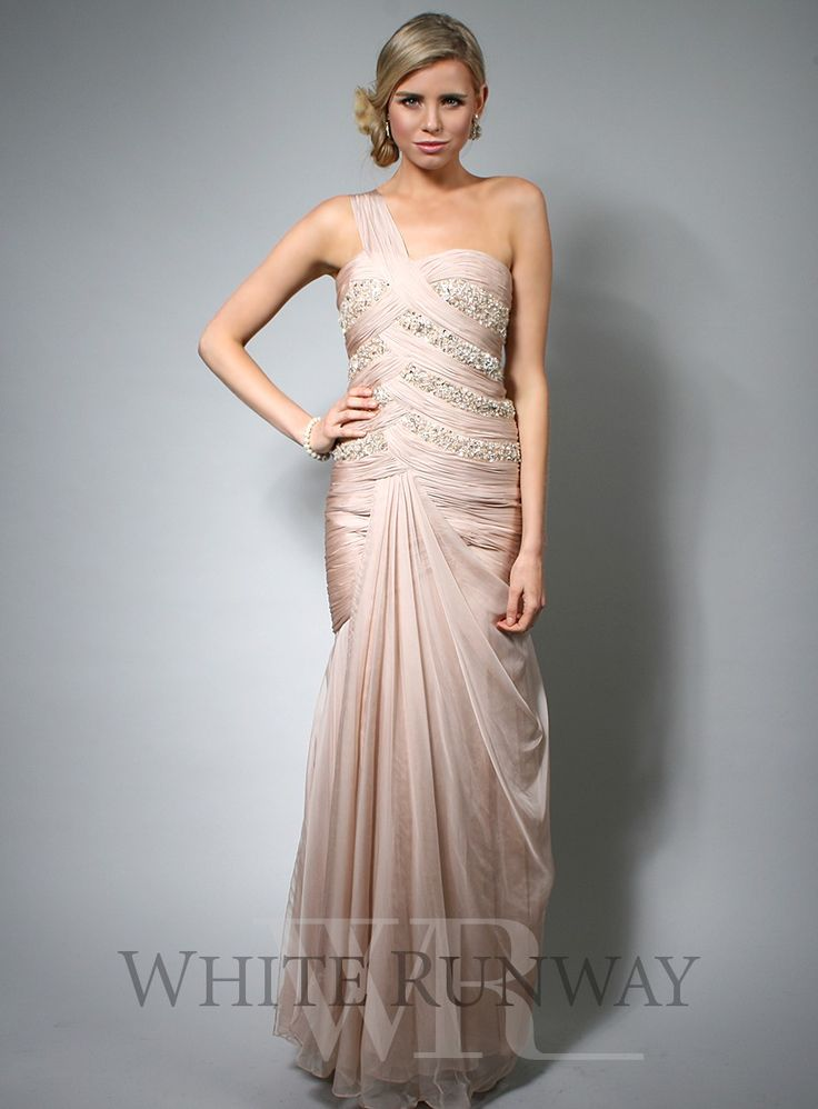 Cleo Beaded Dress A Stunning One Shoulder Gown For Your