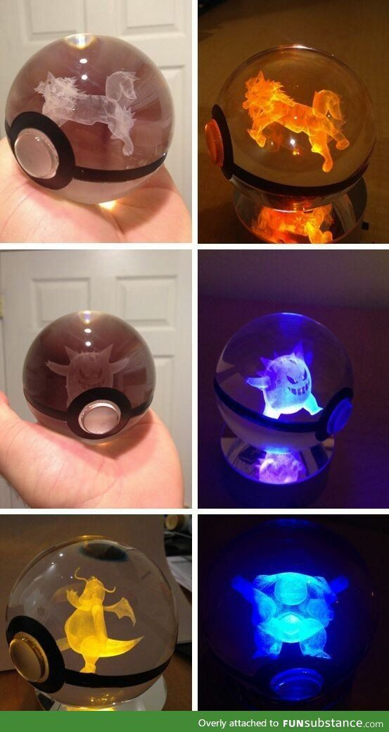 Glass pokeballs