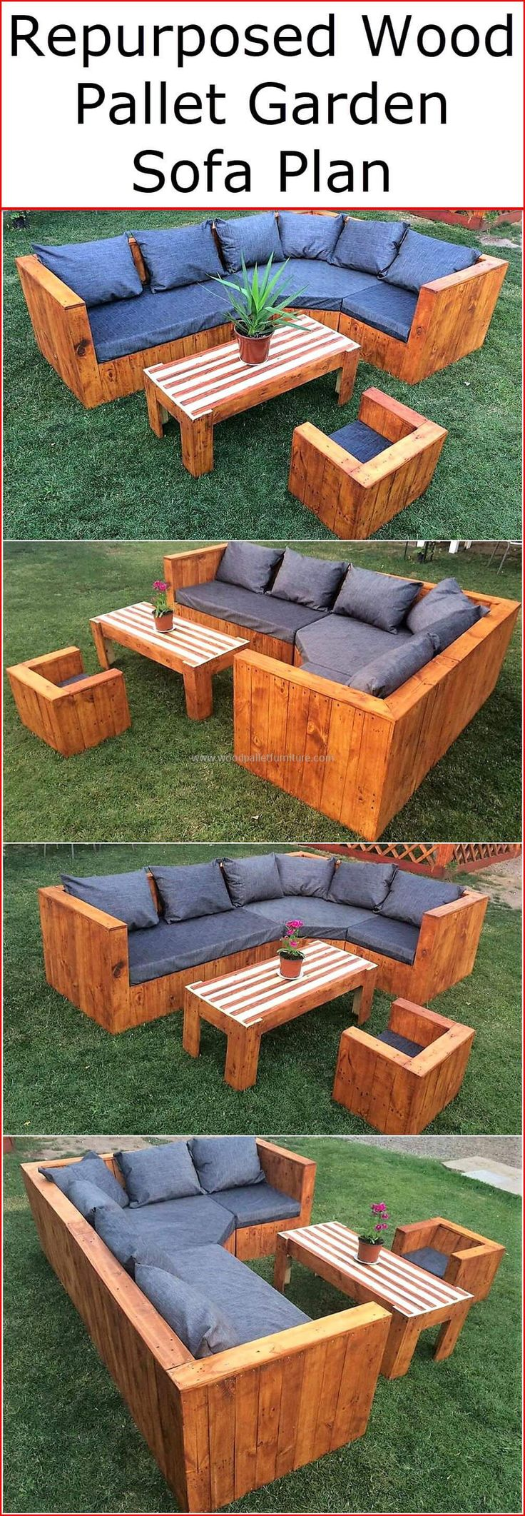 These ideas and wonderful pallet plans will reshape the dull-looking garden of your home into a valuable and glamorous place at your home. Try these simple used pallets project to save your extra money for your other future plans.