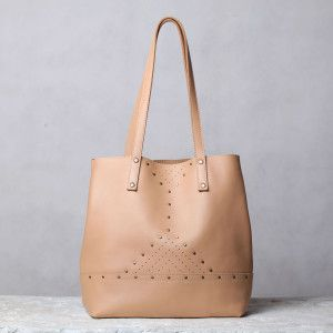 Unique beige shoulder bag by 5Plus design