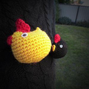 crochet, poule