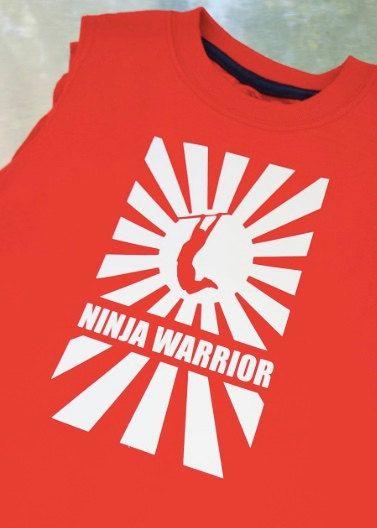 f057adfb6 Ninja Warrior Iron-on Decal in 2019 | Ninja Warrior Party | American ninja  warrior, Ninja, Ninja warrior