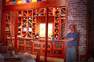 Kent is a fabulous cabinet maker and runs his own shop.  Overall of a wine room he created for a local restaurant.