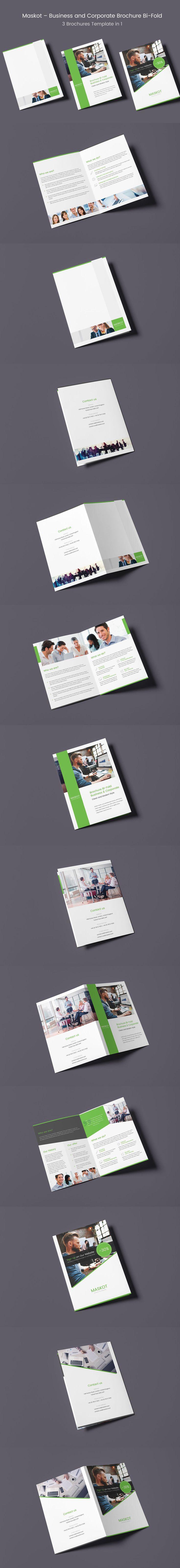 Maskot u2013 Business And Corporate Brochure Bi Fold
