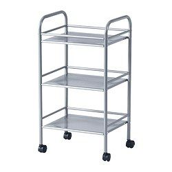 Nice cart to roll around where needed!  IKEA - DRAGGAN, Cart, silver color, , Easy to move around with the included casters.