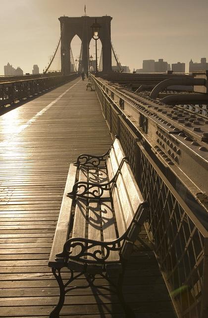 A resting spot on the Brooklyn Bridge. #ArmitronMakeTime