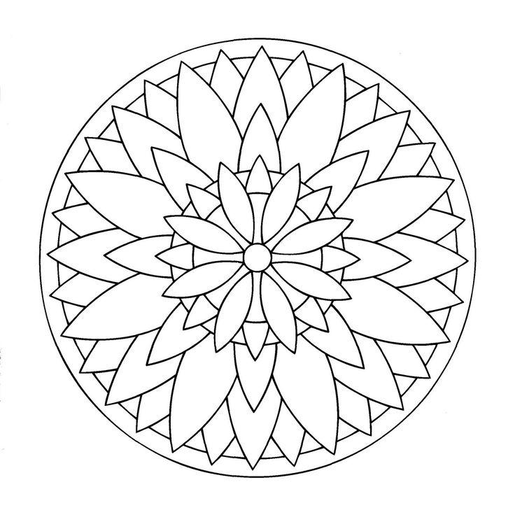 17 mejores ideas sobre mandala de flor en pinterest