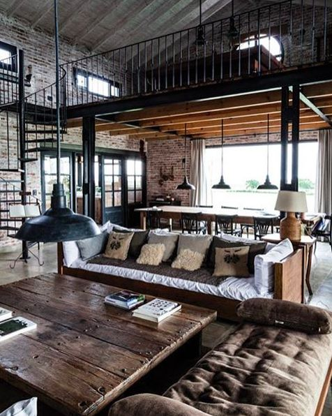 I Am Fascinated With Warehouse Living And This Picture Showcases A Neat Livable Art In The Interior Design