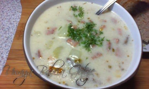 Witam Serdecznie   Podzielę się przepisem na smaczną i prostą zupę zalewajkę . Pierwszy raz ją jadłam z pół wieku temu , może nie z tym...