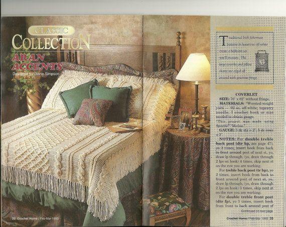 Crochet Home Magazine : ... , fisherman crochet, Vintage crochet patterns Crochet Home magazine