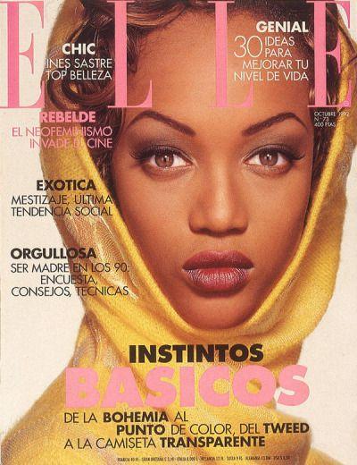 """"""" Elle Spain, October 1992. Model: Tyra Banks. """""""