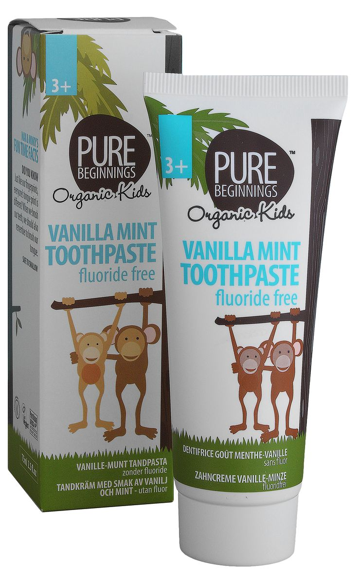 75ml  VANILLA MINTTOOTHPASTE - with xylitol **Fluoride free tooth paste **Xylitol – inhibits the growth of bacteria that causes tooth decay **Age 3 years and older, but safe to use on children younger than 3 **Safe to swallow **Wonderful vanilla mint flavour