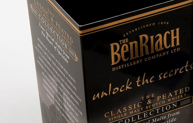 Packaging for Ben Riach, recently heralded the 'Distillery of the Year'