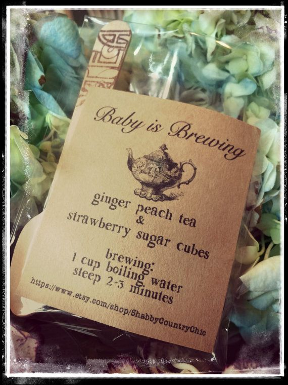 Baby is brewing / baby shower favors / baby shower tea party