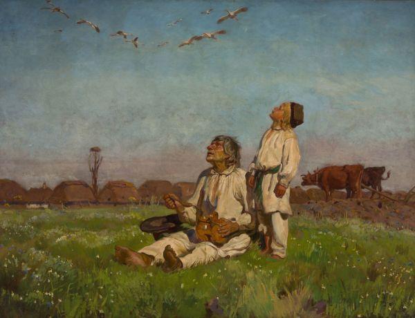 Bociany - Józef Chełmoński