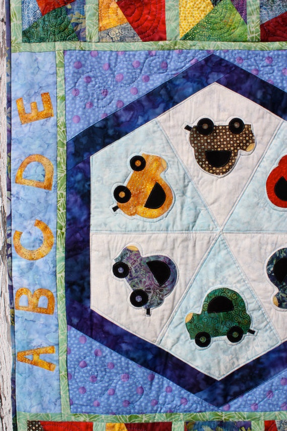 Busy Boy Quilt by cre8ivequilter on Etsy, $250.00