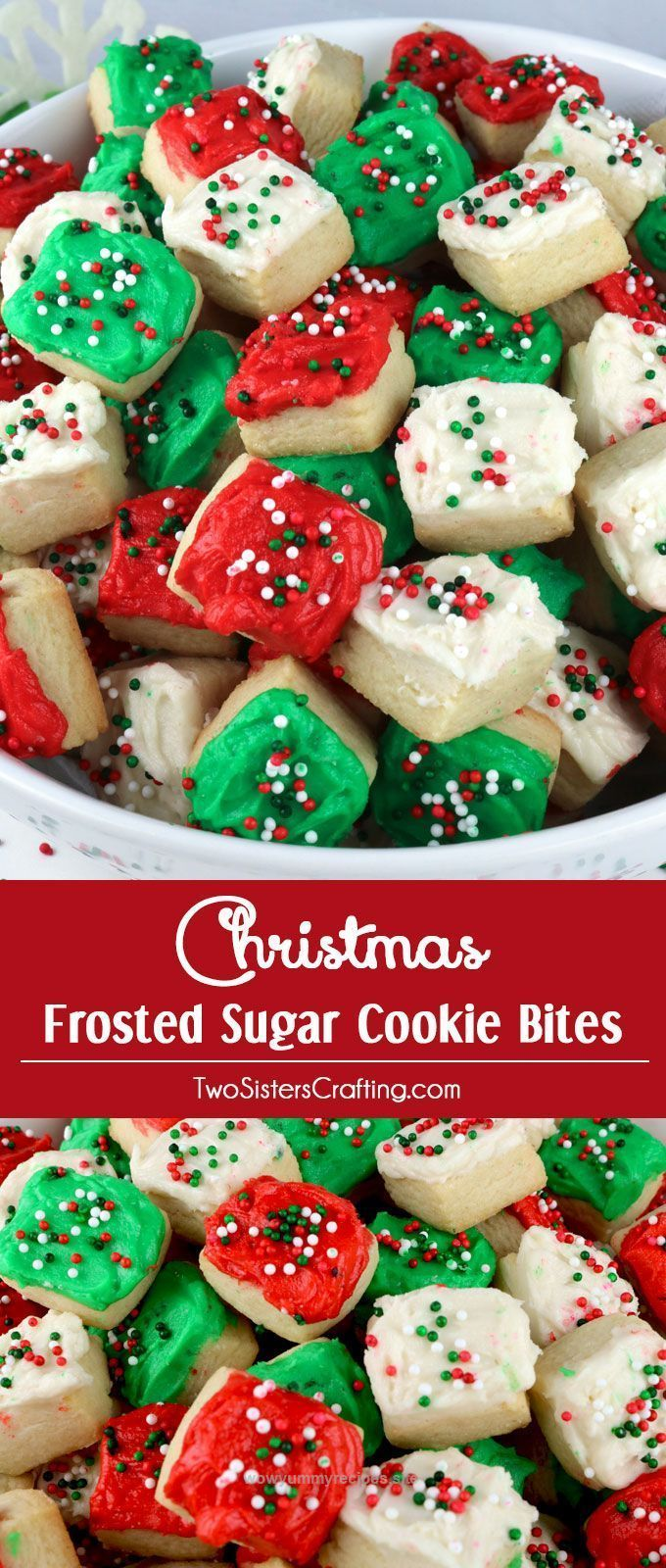 Check out this Christmas Sugar Cookie Bites – these yummy Christmas Treats are so easy to decorate that even the youngest family member can join in on the fun.  They are a super delicious bite-sized ta ..