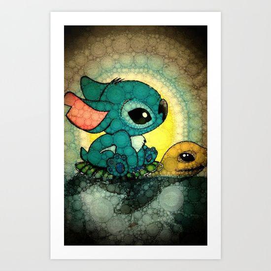 Stitch+Art+Print+by+NORI+-+$14.04