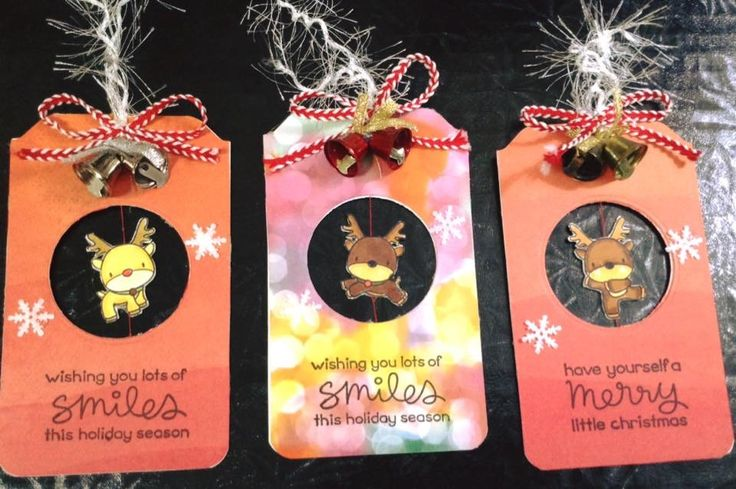 Christmas spinner tags