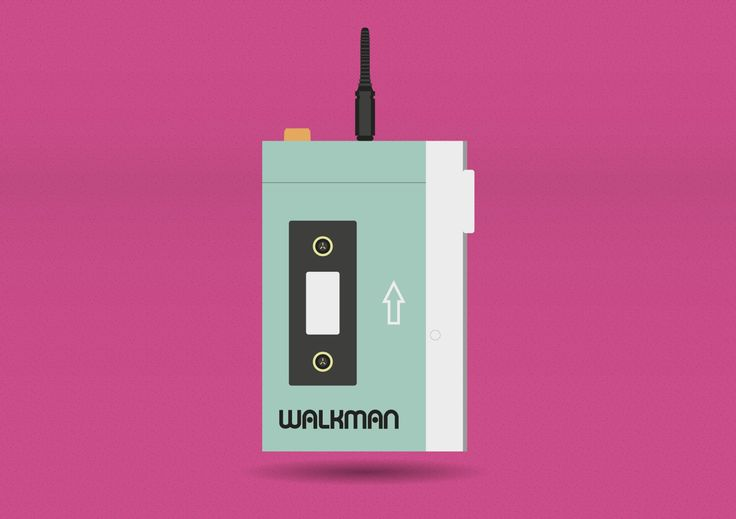 90s cult pieces - Walkman   #illustration #graphicdesign #MAdesigner #self #pieces #cult #90's