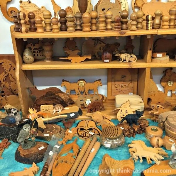Makers Market, Australian Axeman's Hall of Fame ~ article and photo for think-tasmania.com ~ #woodchopping #Latrobe #Tasmania #tourism #sport #woodwork #markets