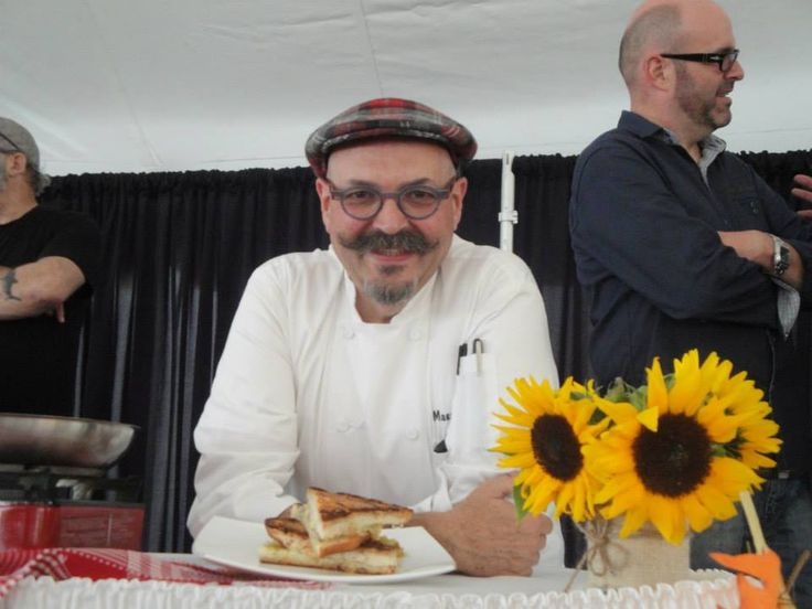 Chef Massimo Capra at the PEI Fall Flavours 2nd Annual Great Island Grilled Cheese Challenge! Photo by Ariana Salvo. www.fallflavours.ca